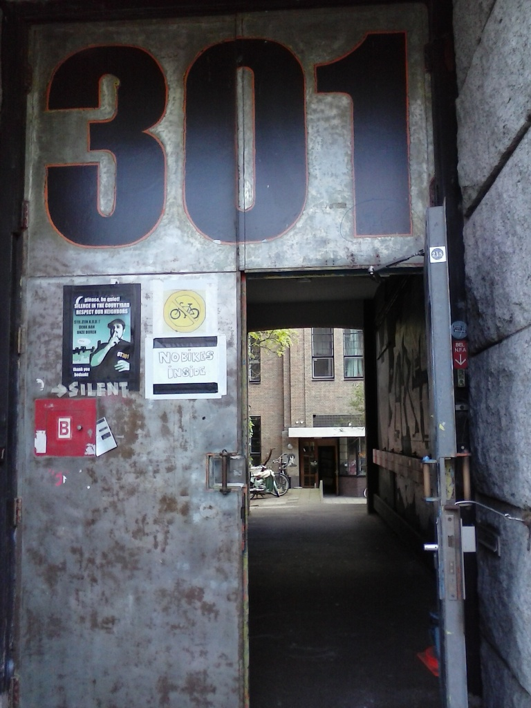 OT301, venue for the Strange Creatures screening in Amsterdam, hosted by the A/V Club, April 2014